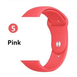 NEW Pink Sport Silicone Band For Apple Watch